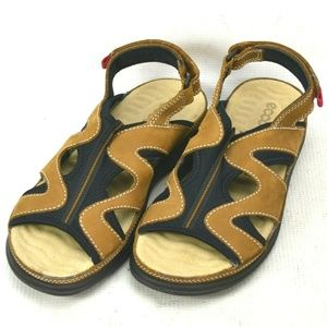 Ecco Leather Sport Water Sandals Shoes Womens 6.5M